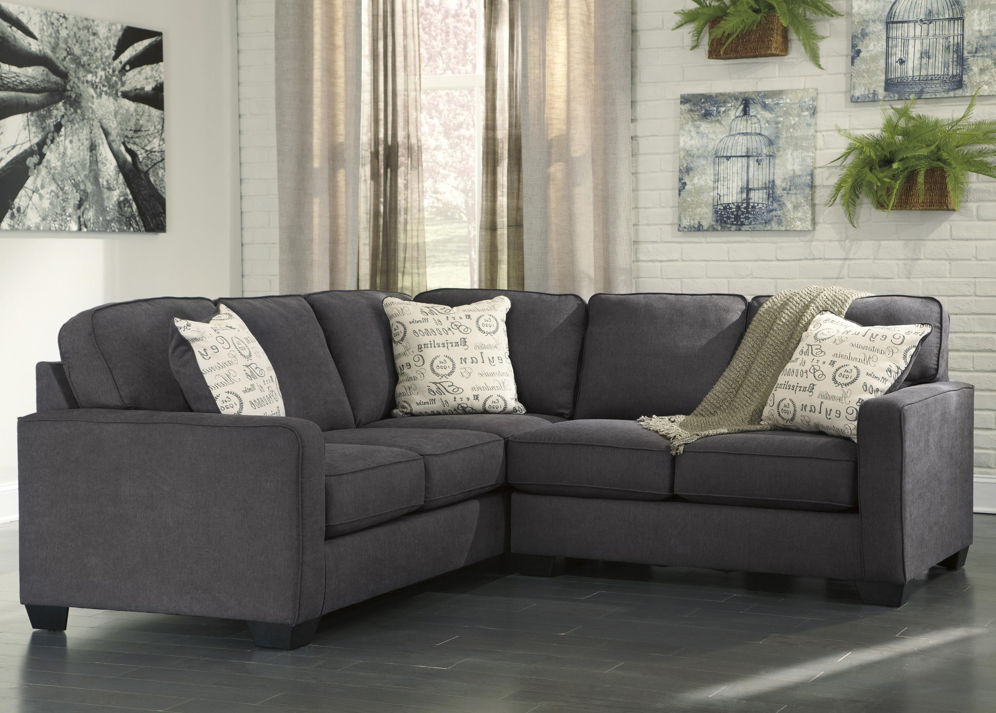 Signature design by ashley alyssa charcoal 2 piece for Furniture xchange new jersey