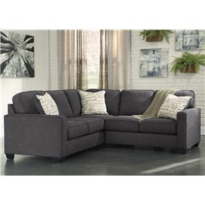Signature Design by Ashley Alenya - Charcoal 2-Piece Sectional with Right Loveseat