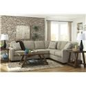 Signature Design by Ashley Alenya - Quartz 3 PC Sectional and Recliner Set - Item Number: 804316607