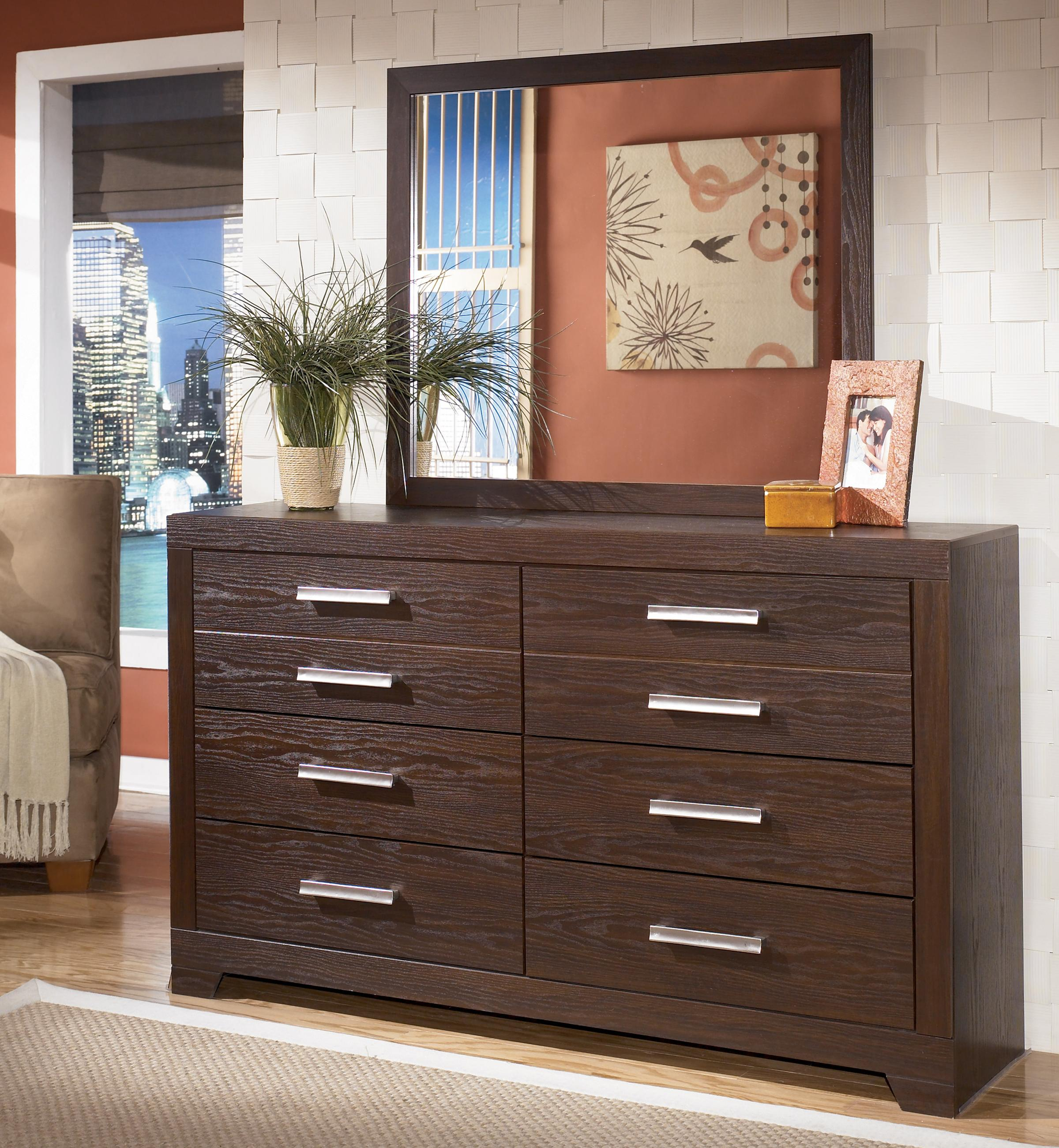 Signature Design by Ashley Aleydis Dresser & Mirror - Item Number: B165-31+36