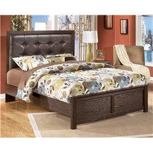 Signature Design by Ashley Furniture Aleydis Queen Upholstered Panel Bed