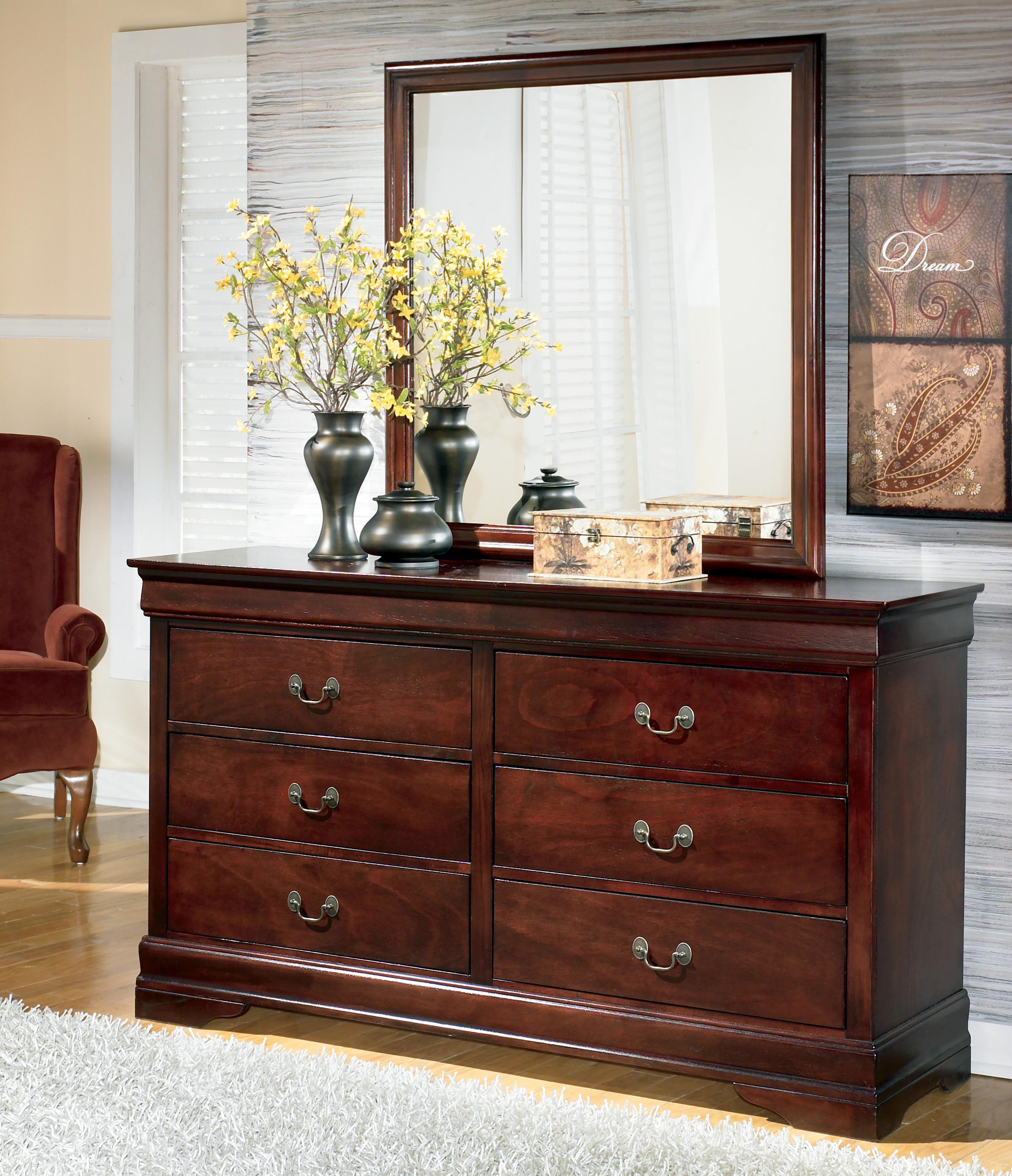 Signature Design by Ashley Alisdair Dresser & Mirror - Item Number: B376-31+36