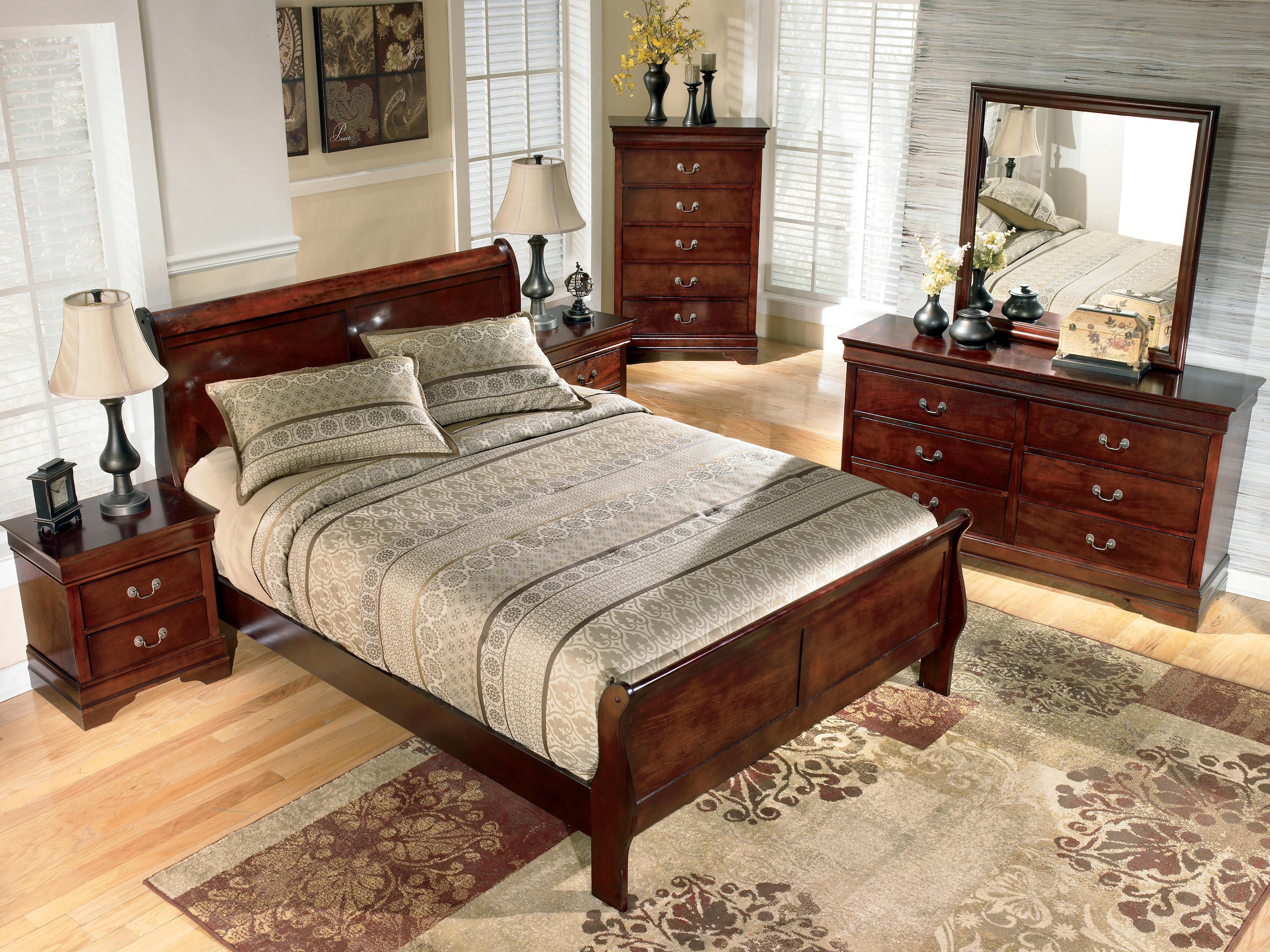 Signature design by ashley arden queen sleigh bed john v - Ashley furniture sleigh bedroom set ...