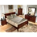Signature Design by Ashley Alisdair Two Drawer Night Stand - Shown with Sleigh Bed, Chest, Dresser, and Mirror