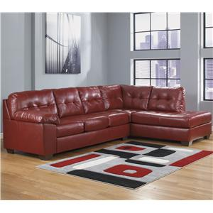 Signature Design by Ashley Alliston DuraBlend® - Salsa Sectional w/ Right Chaise