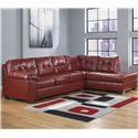 Signature Design by Ashley Alliston DuraBlend® - Salsa Sectional w/ Right Chaise - Item Number: 2010066+17