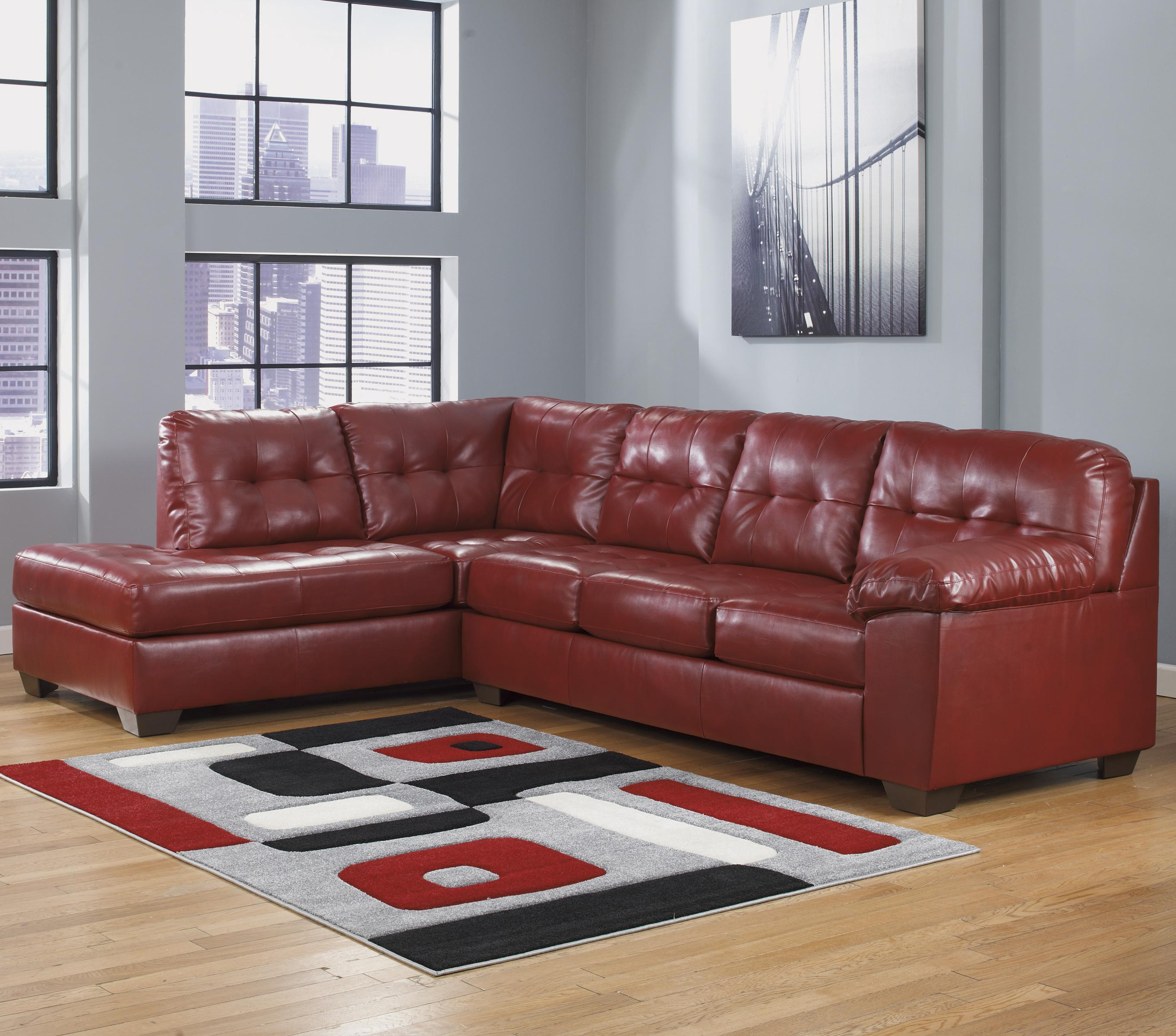 Signature Design by Ashley Alliston DuraBlend® - Salsa Sectional w/ Left Chaise - Item Number: 2010067+16
