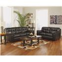Signature Design by Ashley Alliston DuraBlend® - Chocolate Living Room Group - Item Number: 20101 8-PC