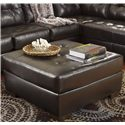 Signature Design by Ashley Alliston DuraBlend® - Chocolate Oversized Accent Ottoman w/ Tufting