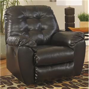 Signature Design by Ashley Maddox Chocolate Rocker Recliner