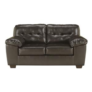 Signature Design by Ashley Alliston DuraBlend® - Chocolate Loveseat