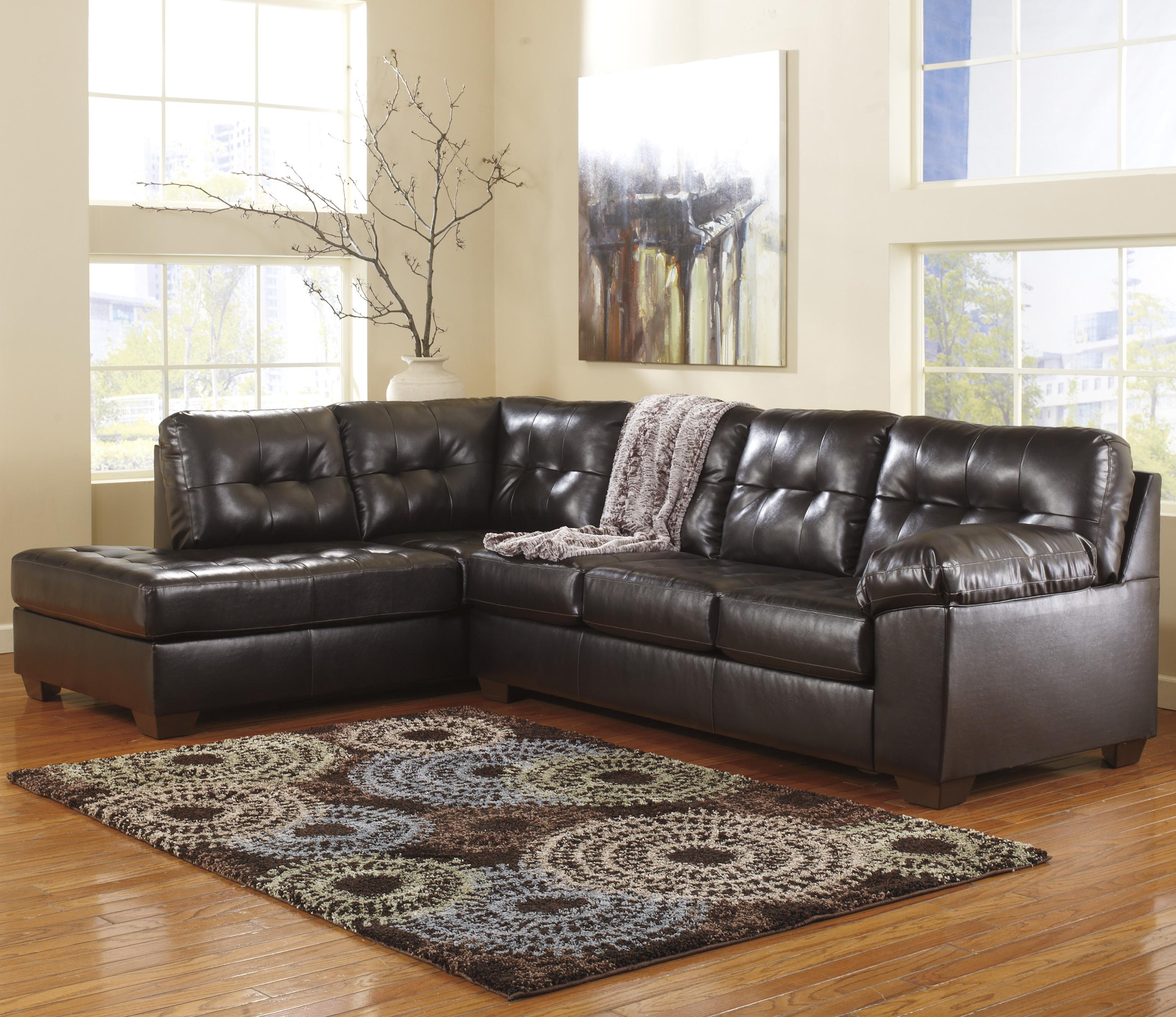 Signature Design by Ashley Alliston DuraBlend® - Chocolate Sectional w/ Left Chaise - Item Number: 2010167+16