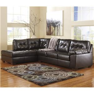 Signature Design by Ashley Alliston DuraBlend® - Chocolate Sectional w/ Left Chaise