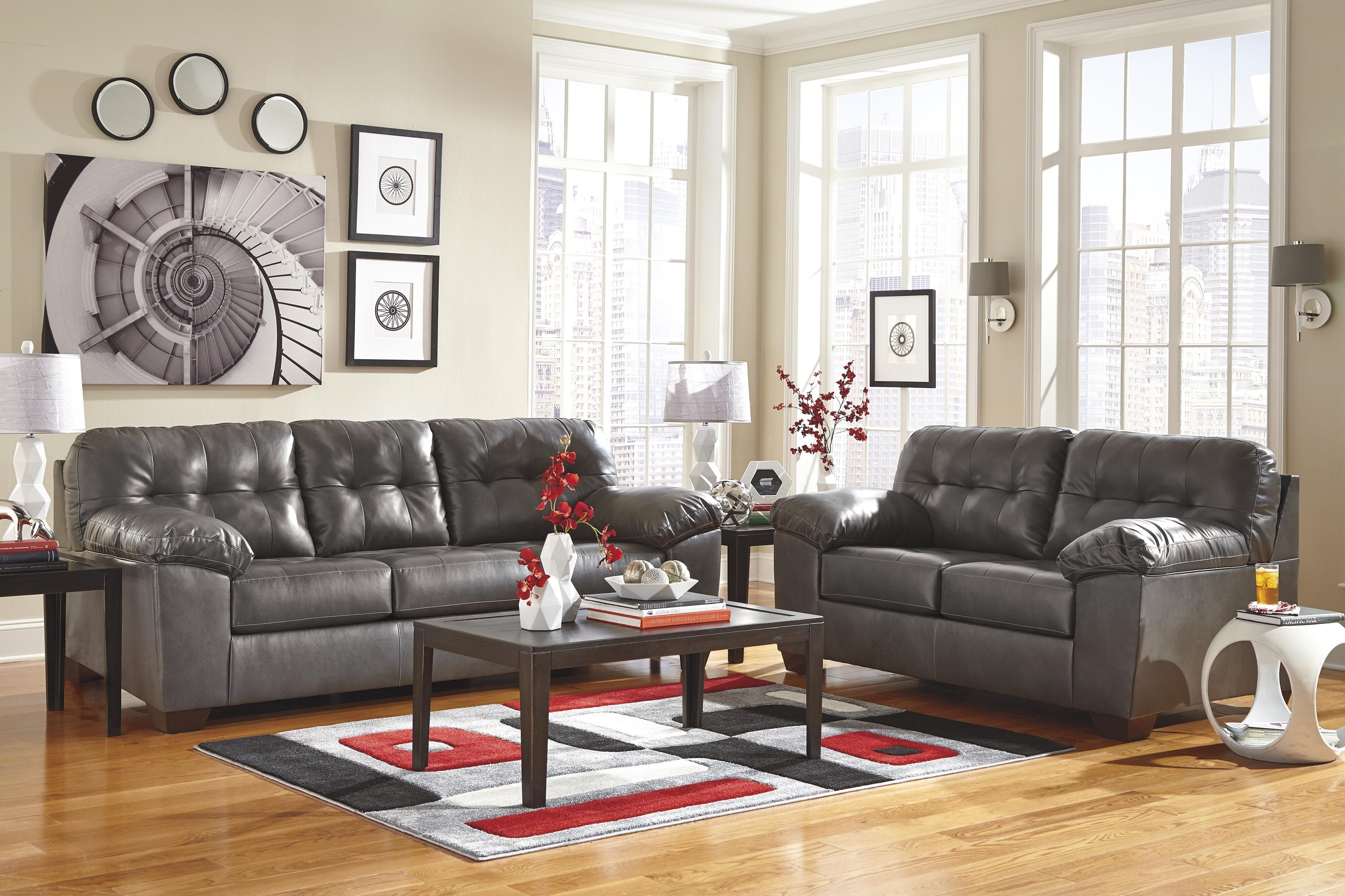 Alliston DuraBlend® - Gray 8PC LIVING ROOM by Signature Design by Ashley at Value City Furniture