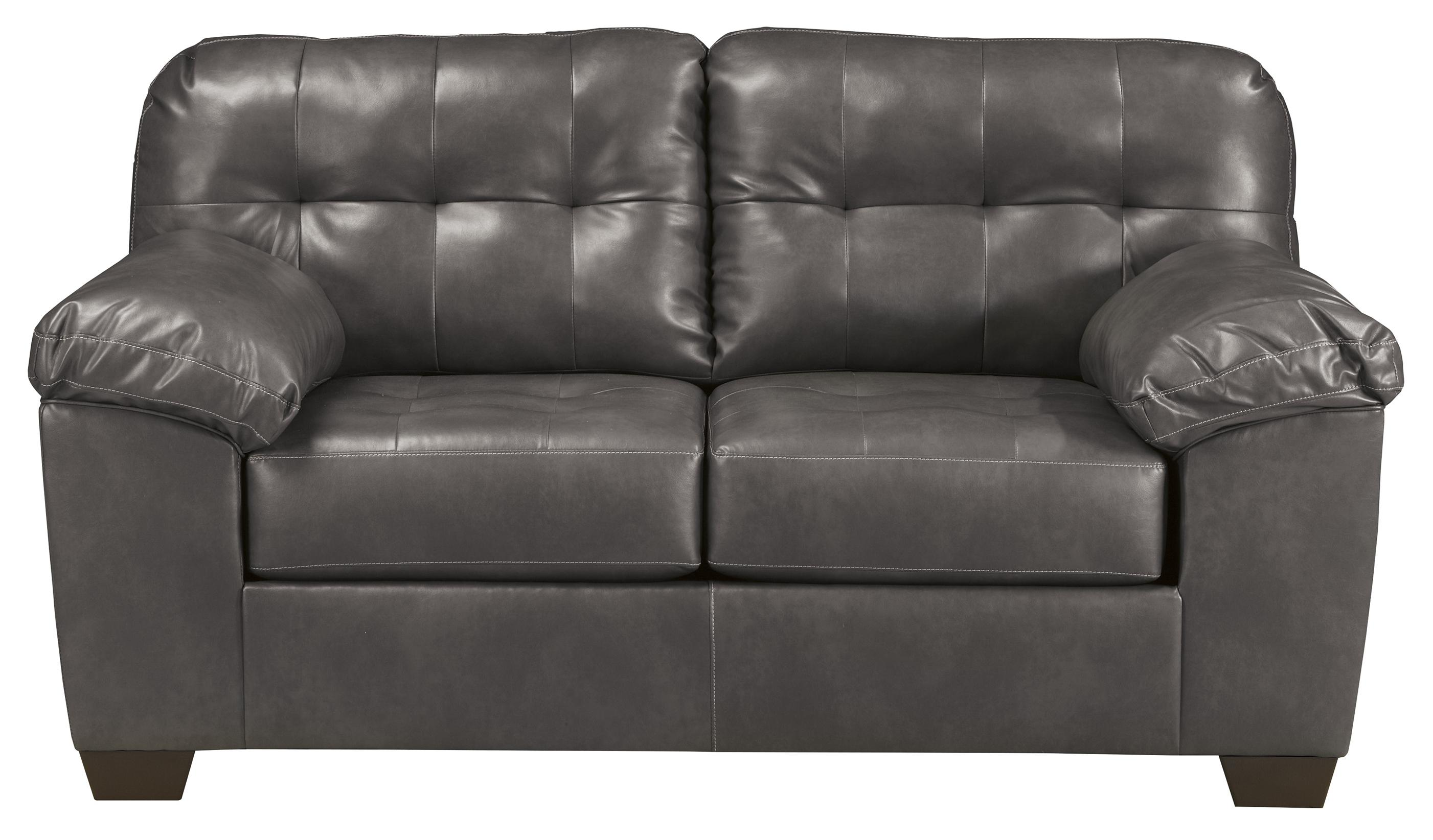 Signature Design by Ashley Alliston DuraBlend® - Gray Loveseat - Item Number: 2010235