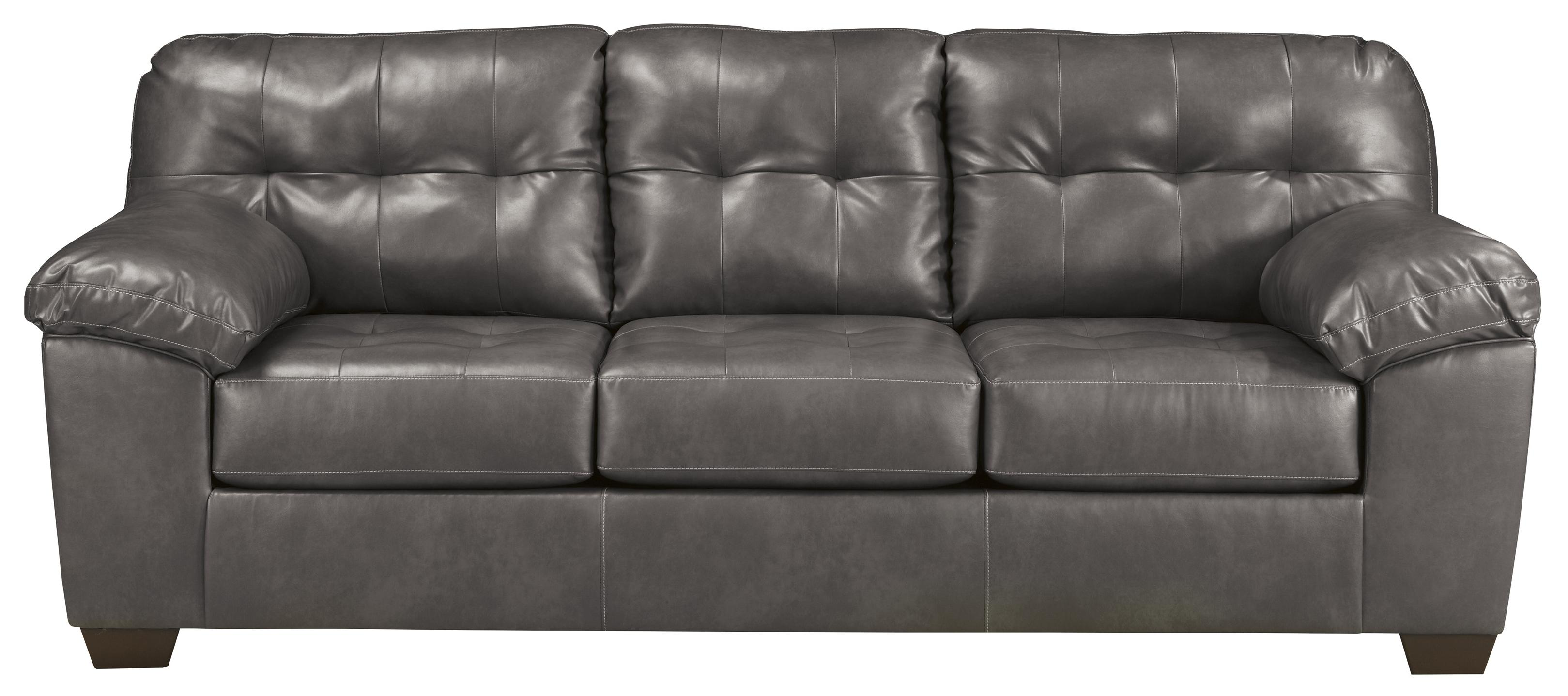 Signature Design by Ashley Alliston DuraBlend® - Gray Queen Sofa Sleeper - Item Number: 2010239