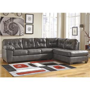 Signature Design by Ashley Alliston DuraBlend® - Gray Sectional w/ Right Chaise