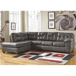 Signature Design by Ashley Alliston DuraBlend® - Gray Sectional w/ Left Chaise