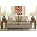 Signature Design by Ashley Almanza Loveseat with English Arms