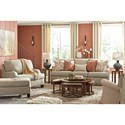 Signature Design by Ashley Almanza Queen Sofa Sleeper with English Arms and Memory Foam Mattress