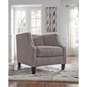 Signature Design by Ashley Alsatin Contemporary Tuxedo Back Accent Chair