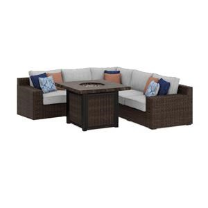 Square Sectional with Firepit