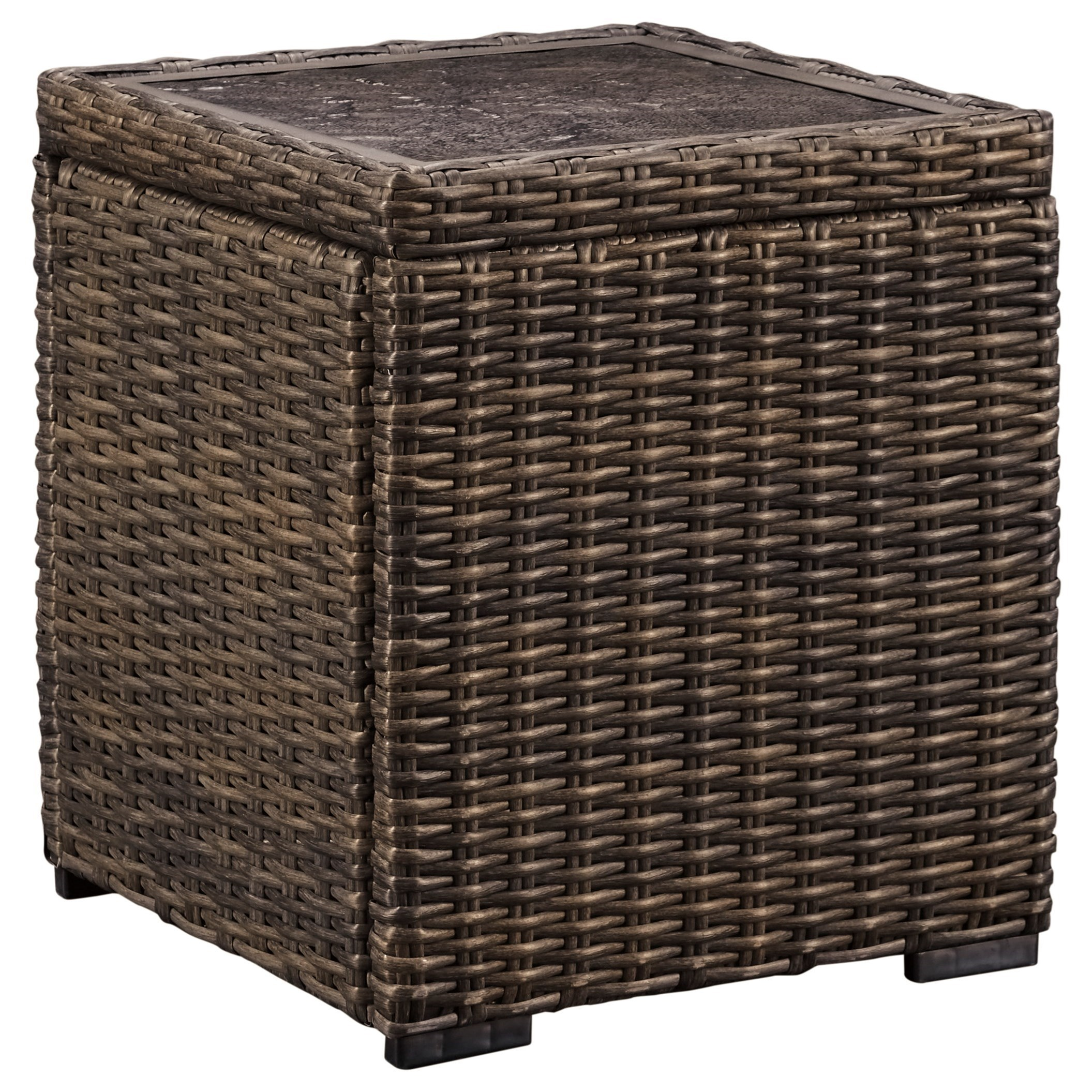 Trendz Woven Paradise Square End Table - Item Number: P782-702