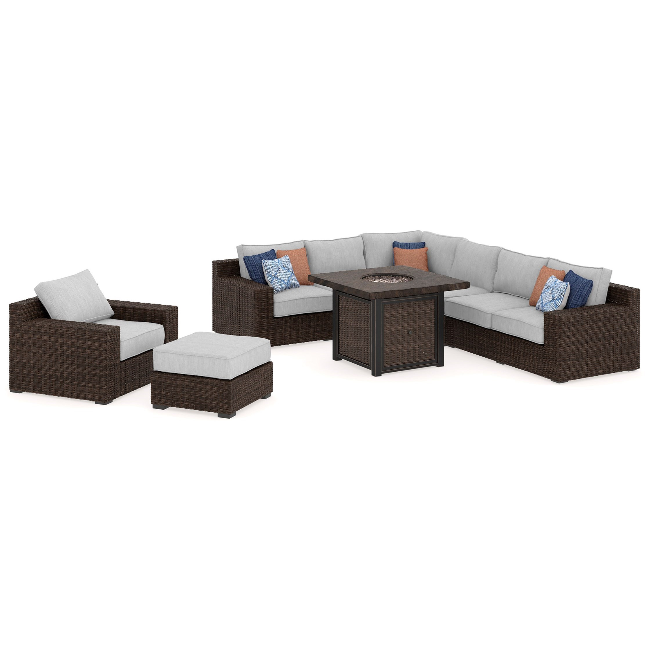 Alta Grande Outdoor Conversation Set by Signature Design at Fisher Home Furnishings