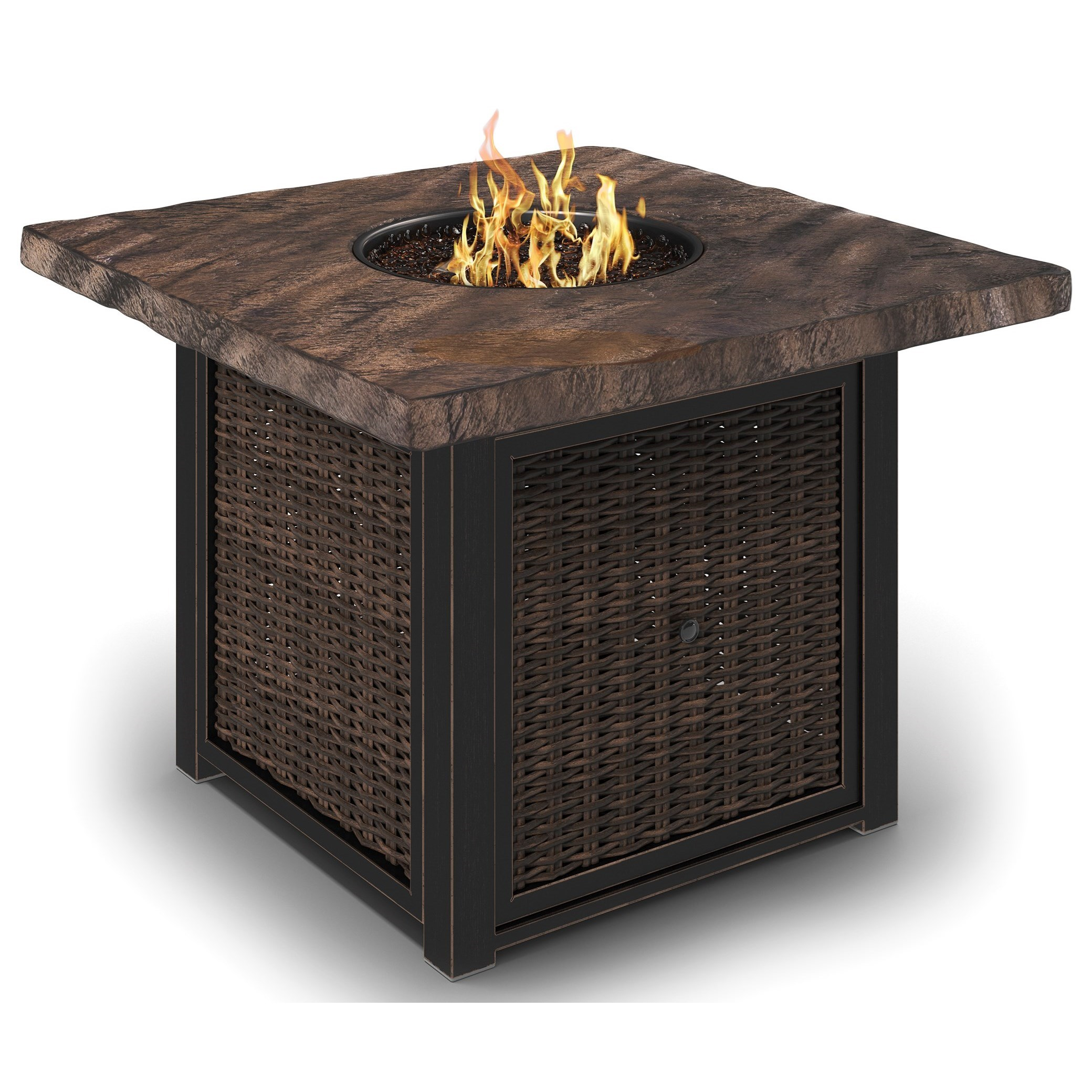 Signature Design by Ashley Alta Grande Square Fire Pit Table - Item Number: P782-772