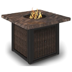 Signature Design by Ashley Alta Grande Square Fire Pit Table