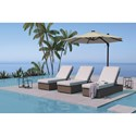 Signature Design by Ashley Alta Grande Adjustable Chaise Lounge with Cushion