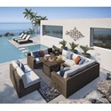 Signature Design by Ashley Alta Grande Outdoor Conversation Set - Item Number: P782-854+4x846+870+877+3x815+772