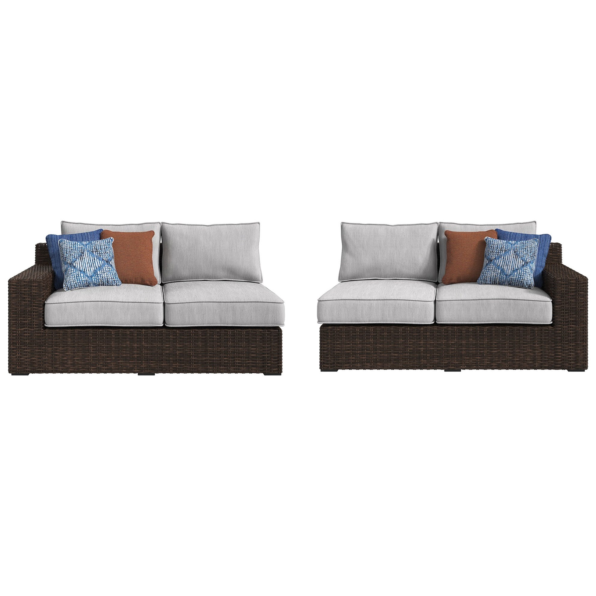 Signature Design by Ashley Alta Grande RAF Loveseat & LAF Loveseat with Cushion - Item Number: P782-854