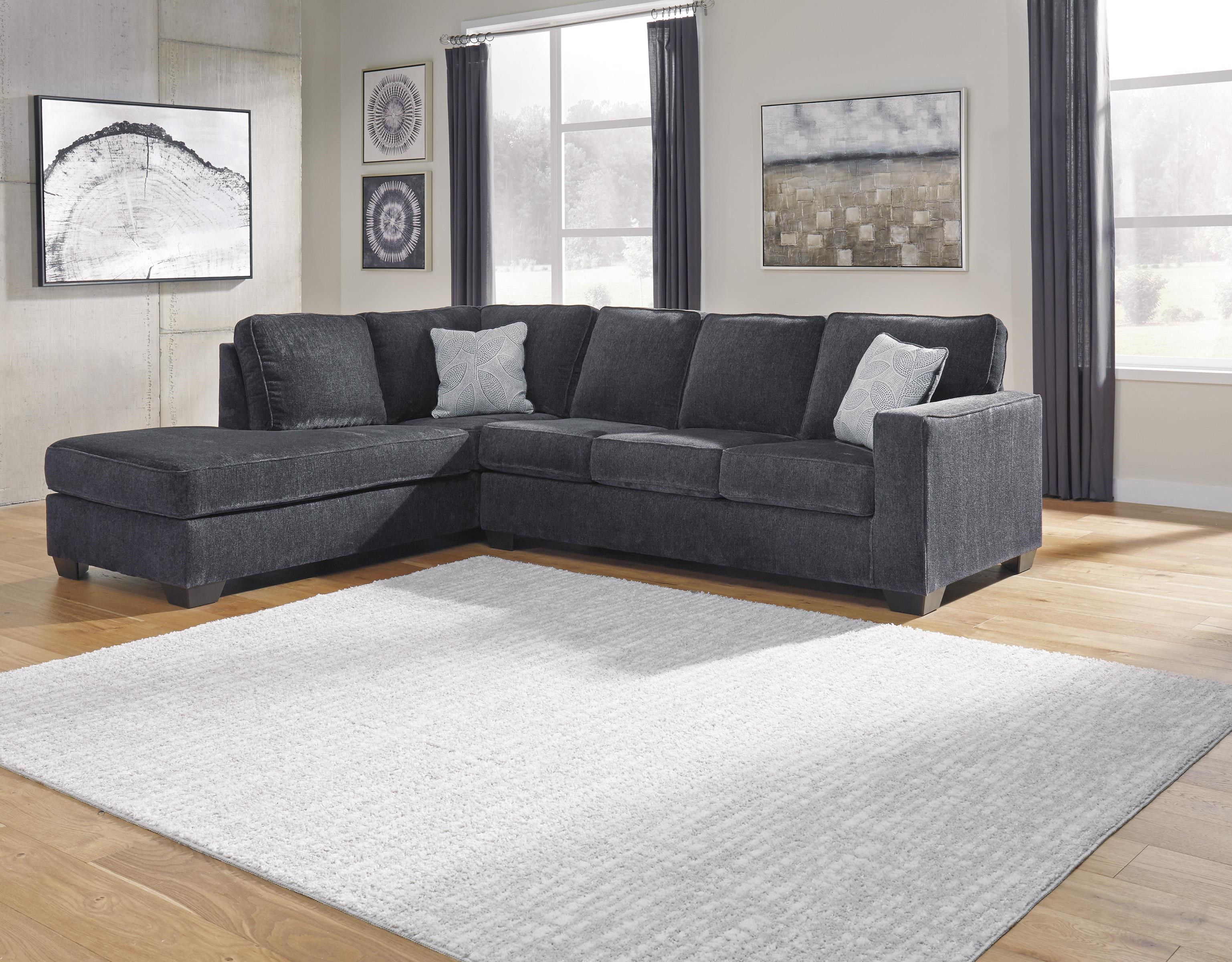 2 PC Sectional and Ottoman Set