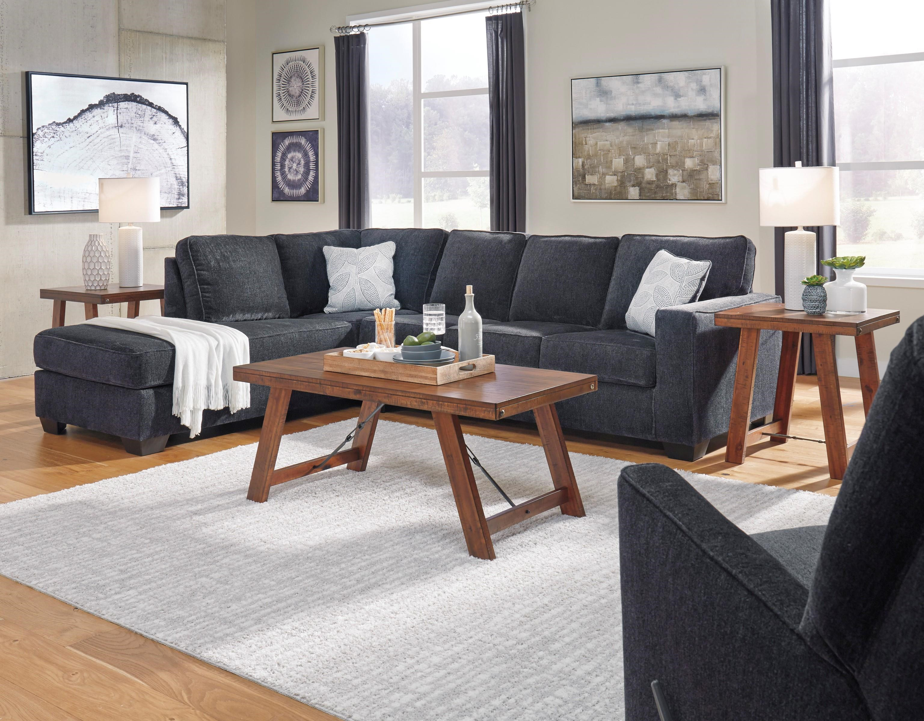 2 PC Sleeper Sectional and Recliner Set