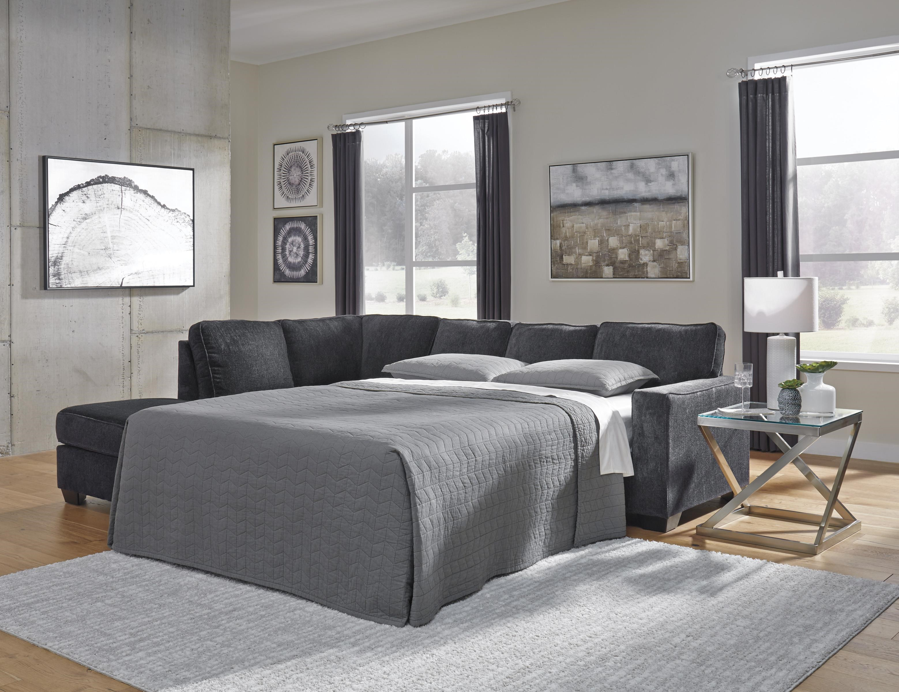 2 PC Sleeper Sectional and Ottoman Set