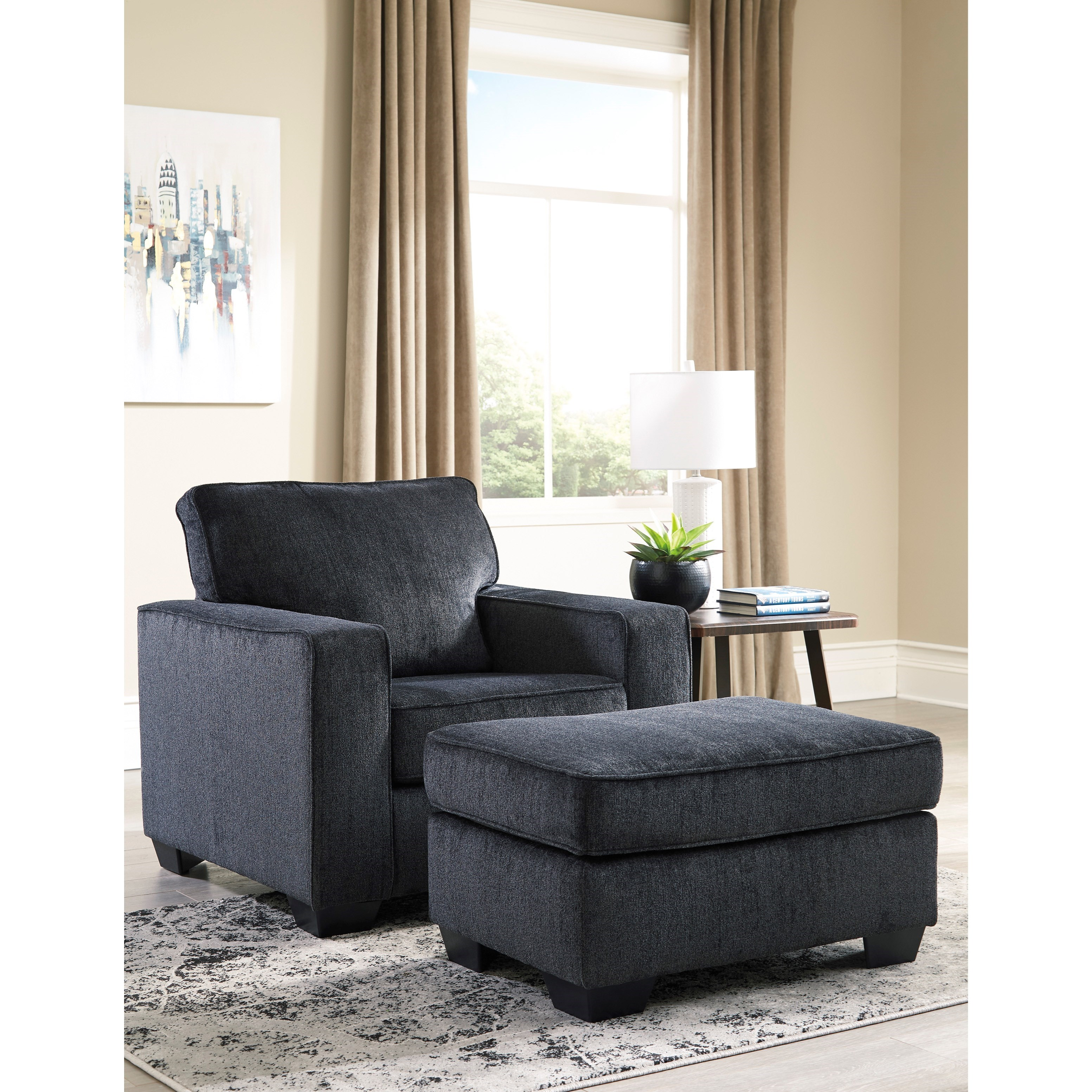 Altari Chair and Ottoman by Signature Design by Ashley at Home Furnishings Direct
