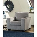 Signature Design by Ashley Altari Contemporary Upholstered Chair with Track Arms
