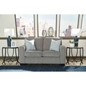 Signature Design by Ashley Altari Contemporary Loveseat with Track Arms
