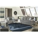 Signature Design by Ashley Altari Sofa, Loveseat, Chair and Ottoman Set - Item Number: 8721438+35+20+08