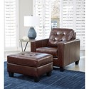 Signature Design by Ashley Altonbury Chair and Ottoman Set - Item Number: 8750420+14