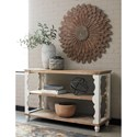 Signature Design by Ashley Alwyndale Solid Wood Two-Tone Finish Console Sofa Table with Scalloped Detail