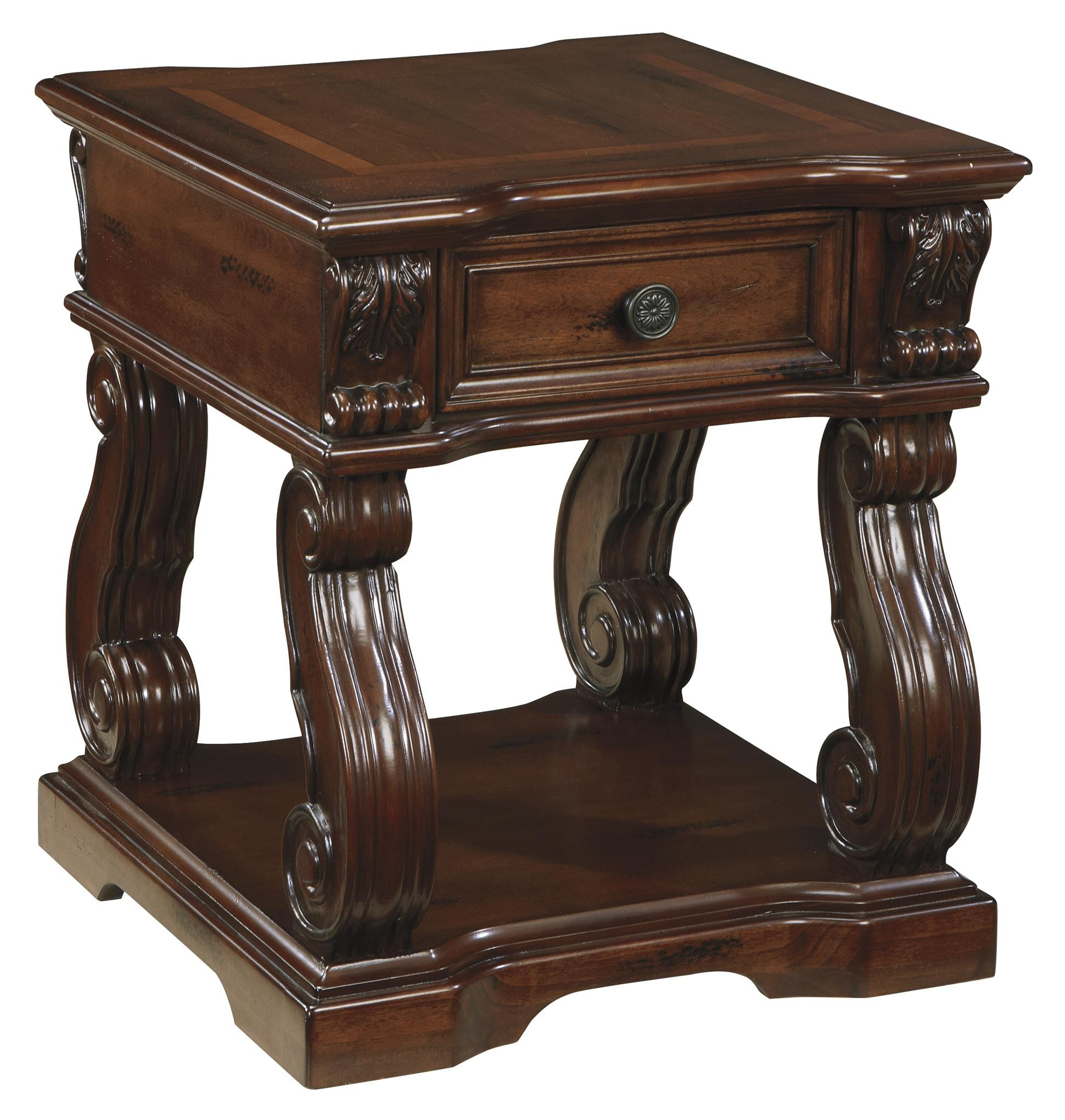Signature Design by Ashley Alymere Square End Table - Item Number: T869-2