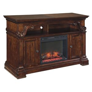 Signature Design by Ashley Alymere Large TV Stand with Fireplace Insert