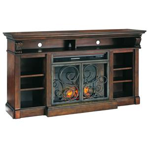 Signature Design by Ashley Alymere Extra Large TV Stand w/ Fireplace Insert