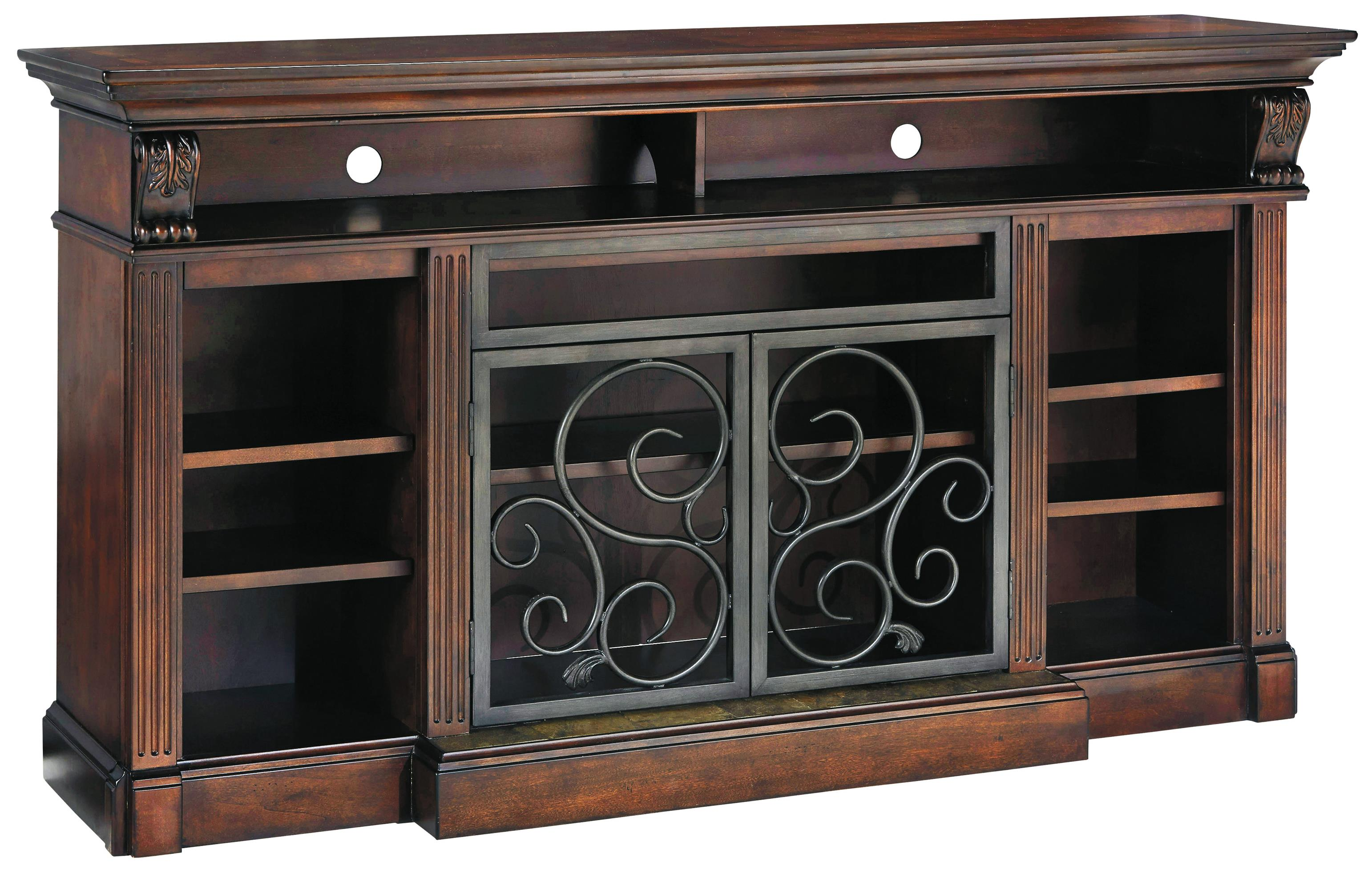 Signature Design by Ashley Scroll Extra Large TV Stand - Item Number: W669-88