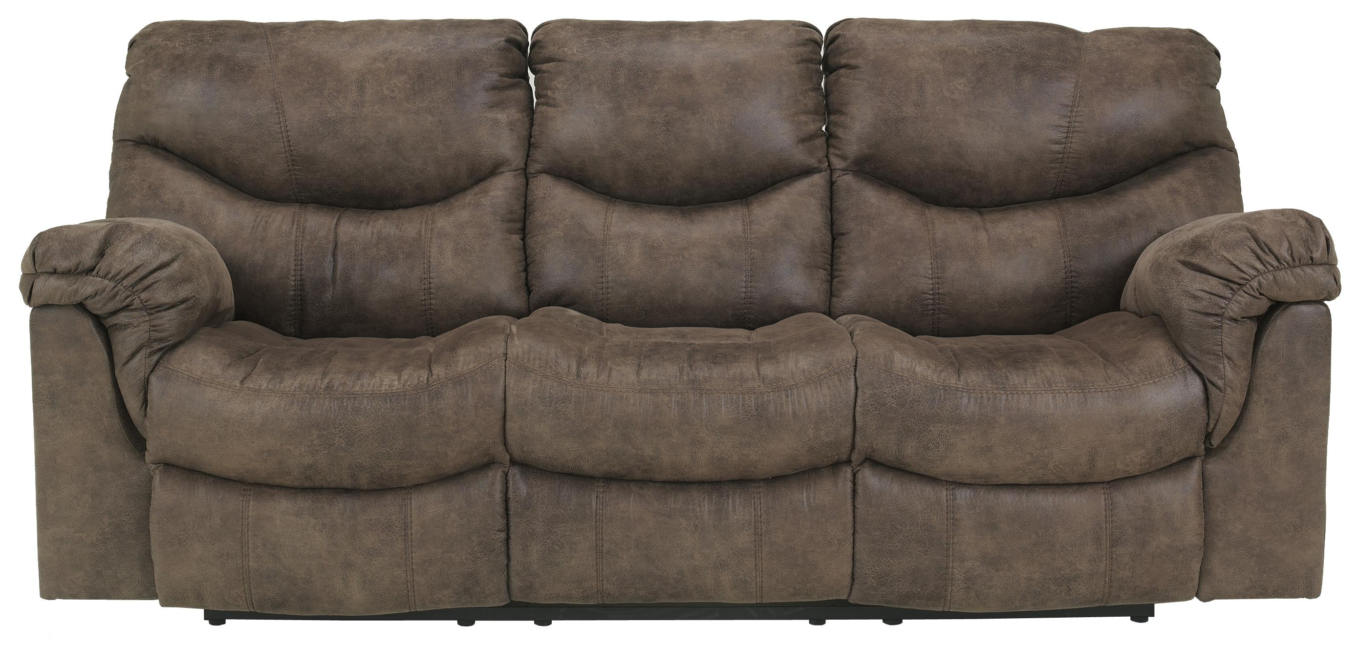 Signature Design by Ashley Alzena - Gunsmoke Reclining Power Sofa - Item Number: 7140087