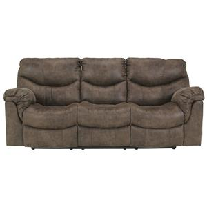 Signature Design by Ashley Alzena - Gunsmoke Reclining Power Sofa