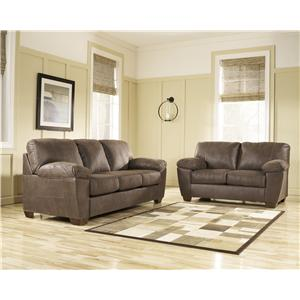 Signature Design by Ashley Furniture Amazon - Walnut Stationary Living Room Group