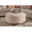 Signature Design by Ashley Amici Boho Round Oversized Accent Ottoman